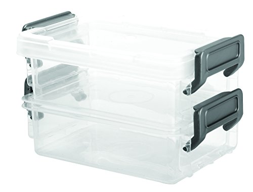 IRIS Layered Latch Box Clear