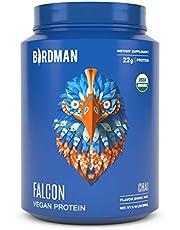 Birdman Falcon Protein Premium Vegan Protein Powder, Plant Based Protein Powder, Certified Organic, Kosher, Non Dairy, Gluten Free, Keto-Friendly, Gluten Free, Chai Flavor, 33 Servings 2.18lb