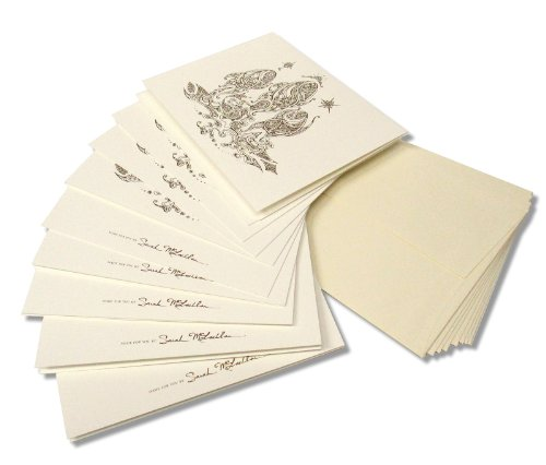 Swag Holiday Card (Sarah McLachlan 10-Pack Gold Design Ivory Holiday Cards)