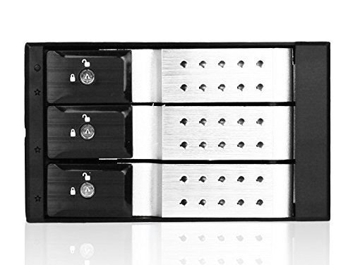 iStarUSA BPN-DE230SS 2 X 5.25-Inch to 3 X 3.5-Inch SAS/SATA Trayless Hot-Swap Cage (Silver)