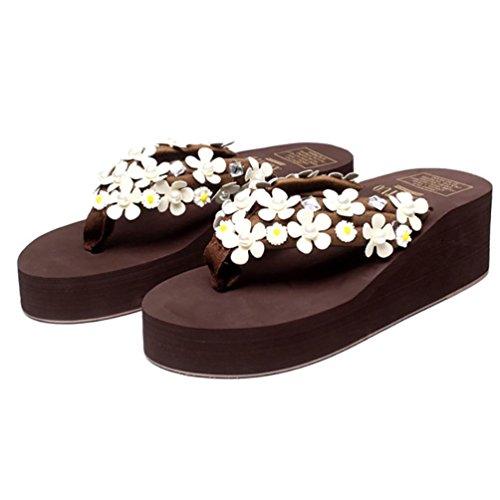 SHANGXIAN Women's Handmade Artificial Diamond Flip-Flops Wedge Wedge Wedge Sandal B01NB0XNAM Parent bd6cdd