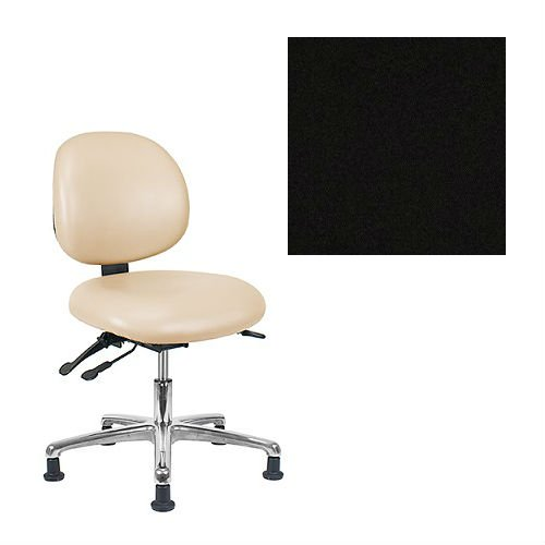 Office Master Classic Collection CL44MD Ergonomic Classic-Professional Stools - No Armrests - Grade 1 Fabric - Celestial Oberon Black 1200 PLUS Free Ergonomics eBook
