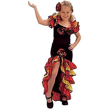 childrens girl flamenco fancy dress costume spanish age 11 13