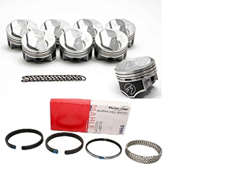 Chevy 7.4/454 SPEED PRO Hypereutectic Coated 30cc Dome Piston+ FREE MOLY Rings Kit (std bore) (Kit Std Bore)