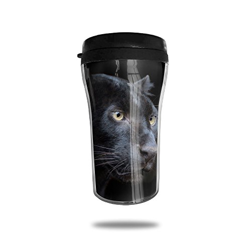 China Sake Cup (Gfae Panther Leopard Black Water-tight Double Wall Heat Insulation Flip Top Coffee Mugs Travel Cups Sports Drink Bottle 250ML)