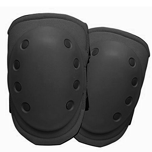 Condor Outdoor Tactical Rubber Cap Knee Pads - BLACK - Sport Bunker Cap
