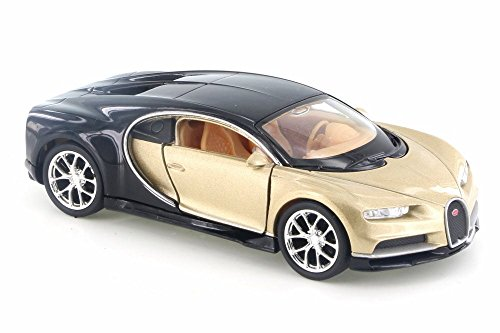 Welly Bugatti Chiron, Gold w/Black 43738D - 4.5