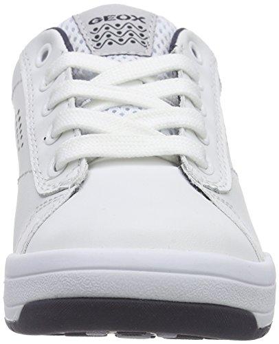 GeoxJ ROLK BOY D - Zapatillas Niños Blanco - Weiß (WHITE/NAVYC0899)