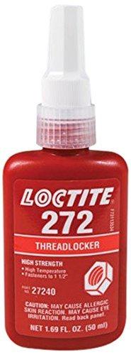 High Temperature Thread - Loctite Red 272 High Temperature/Strength Thread Locker, 50 mL Bottle, Expiry Is 2019 & 2020