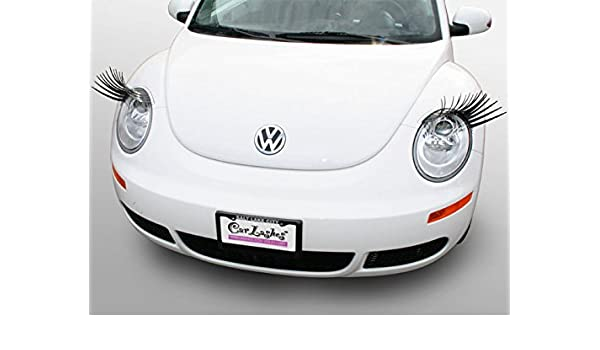 Amazon.com: Carlashes for New Beetle (1998-2011) - Classic Black Car Headlight Eyelashes: Automotive