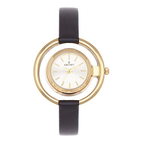 Escort Analog Gold Dial Women #39;s Watch E 1550 591 GL.4