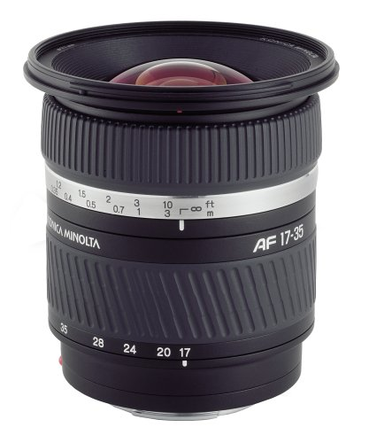 Konica-Minolta AF 17-35mm F/2.8-4 (D) wide angle lens for Sony/Minolta A-Mount SLR & DSLR ()