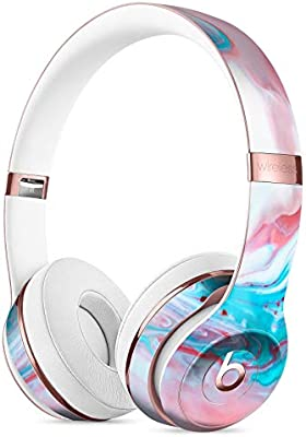 77df2238d37 Marbleized Teal and Pink V2 DesignSkinz Full-Body Skin Kit for The Beats by  Dre Solo 2 or 3 Wireless Headphones/Ultra-Thin/Matte Finished/Protective  Skin ...