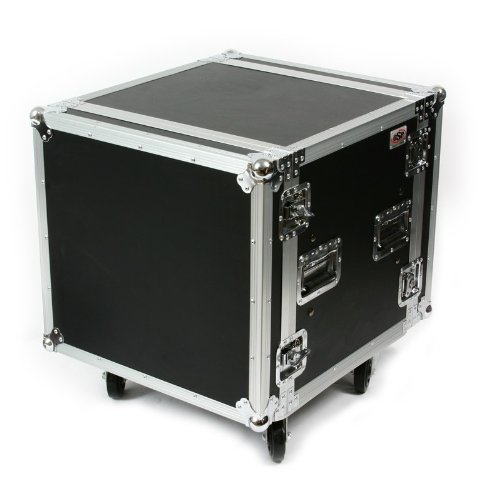 10 Space ATA Shock Amp Rack Case w/ Casters
