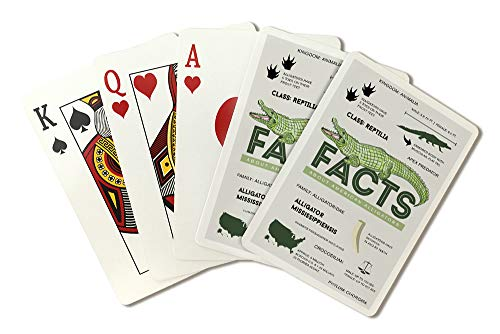 Facts About American Alligators (Playing Card Deck - 52 Card Poker Size with Jokers)