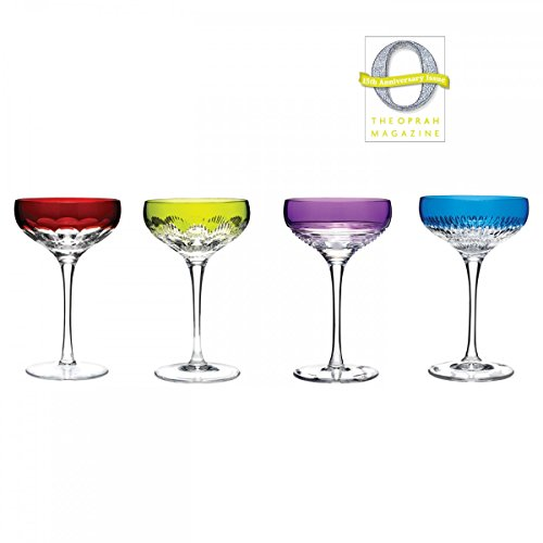 Waterford Mixed Color Coupe Glasses by Waterford