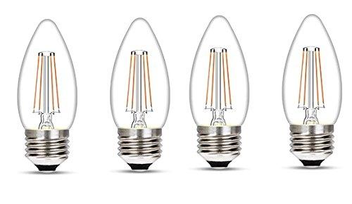 Wipro Garnet Base E27 4-Watt LED Bulb (Pack of 4, Yellow)