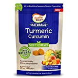 Healthy Delights Natural Turmeric Curcumin Chews, Tropical Fruit Flavor, 1 PACK ( 90 Count ) For Sale
