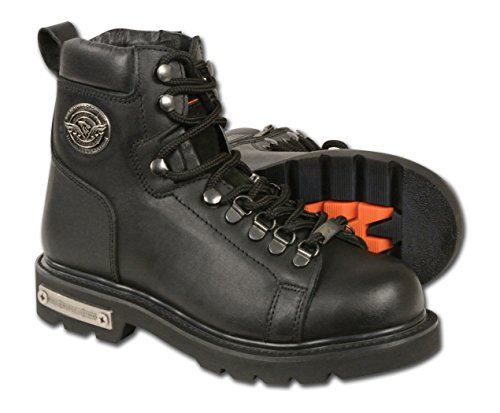Milwaukee Leather Women's Classic Motorcycle Boots (Black, Size 6.5) by Milwaukee Leather