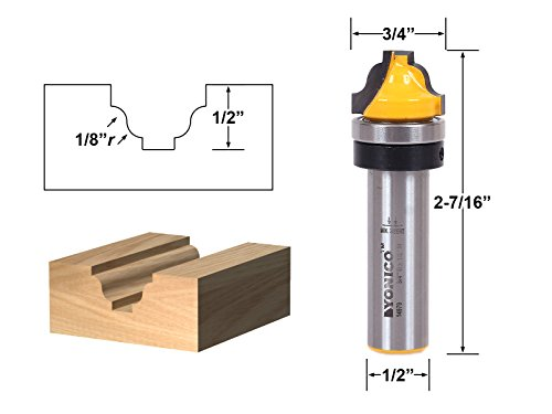- Yonico 14979 Faux Panel Roman Ogee Router Bit with C3 Carbide Tipped 1/2