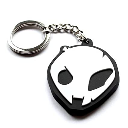 SBR S1000RR S1000R HP4 Motorsport White Alien Head Key Chain Fob Ring 2009-2014 Style for BMW