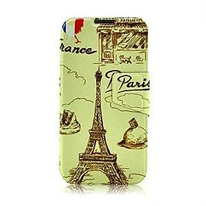 Conseguir Cartoon Eiffel Tower patrón completo cubierta del caso para Samsung i9500 Galaxy 4