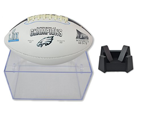 otball League Fan Shop Authentic NFL Signature Series Super Bowl Ball and Display Case. Great Collectible Bundle for the office or Man Cave (Philadelphia Eagles) ()