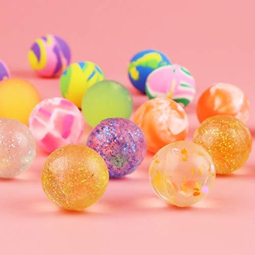 HAKACC Flummis, 50 Stück 25mm Flummis Springball Gummiball Hüpfball Mitgebsel Tombola Kindergeburtstag