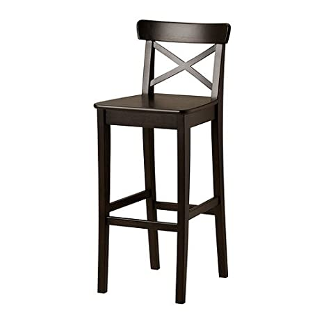 Ikea Ingolf - Sgabello da bar Marrone Nero: Amazon.it: Casa e cucina