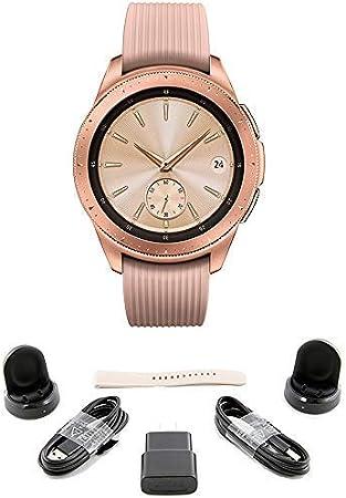 Samsung Galaxy Watch (42mm) Rose Gold (Bluetooth) US Version Bundle with 2 Charging Docks (Renewed)