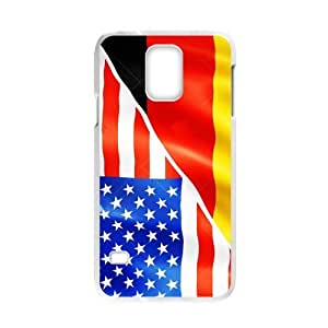 Cheap phone case, USA mixed Germany flag pattern for white plastic Samsung Galaxy S5 case BY RANDLE FRICK by heywan