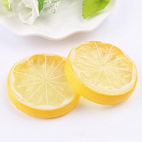 Iycorish Limon Falso Fruta De Simulacion Fruta Artificial Guarnicion en Rodajas