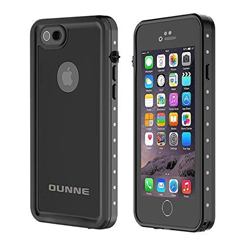 OUNNE iPhone 6/6s Waterproof Case, IP68 Certified with Touch ID Underwater Full Body Cover SandProof Shockproof Snowproof for iPhone 6/6s (Black) (Iphone 6 Case Waterproof Apple)