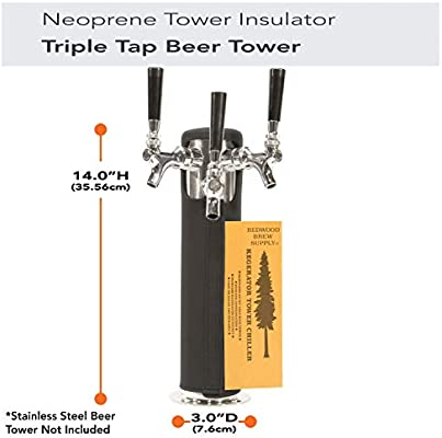 Kegerator Tower Cooler Insulator for Beer Tap Towers by Redwood Brew Supply (3.0