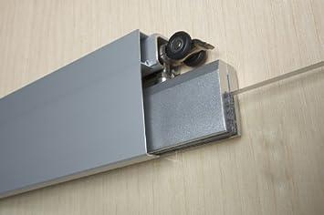 8mm Sicherheitsglas Satinato Glasschiebet/ür ST 717-775 x 2050 x 8mm DIN Links Griffmuschel und Schiebesystem