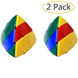 GbaoY 2 Pack New upgrade 3x3 Pocket Cube Puzzle Skewb Third-order Magic Cube Professional Magic Puzzle Cube