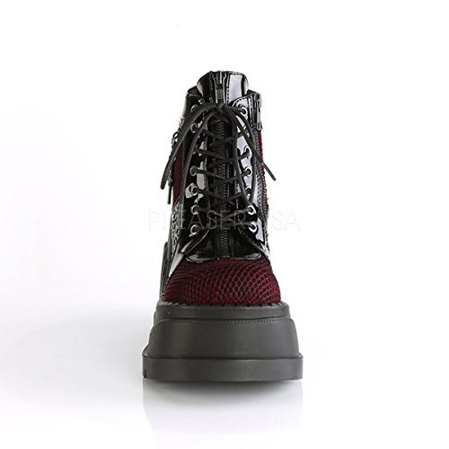 18 burgundy Velvet STOMP Blk Pat Demonia vw4xP1q8n