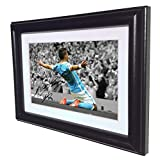 Signed Black Soccer Sergio Aguero Manchester City Autographed Photo Photograph Picture Frame Gift SM