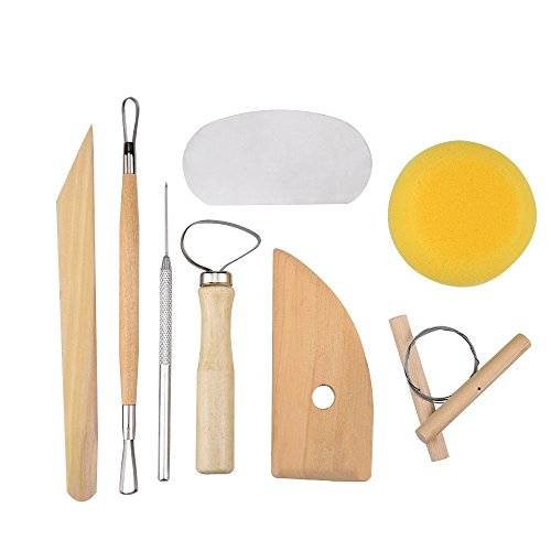 8 Pcs Set Clay Wax Pottery Tool Kit Ceramics Wax Carving Sculpting Molding Tools