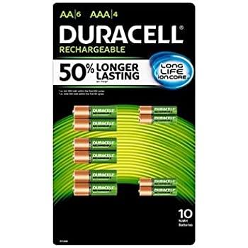 Amazon.com: Duracell Rechargeable AA Batteries - 4 Count