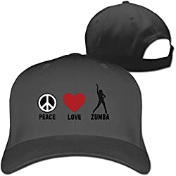 Peace Love Zumba Adjustable Fitted Hat Baseball Hat