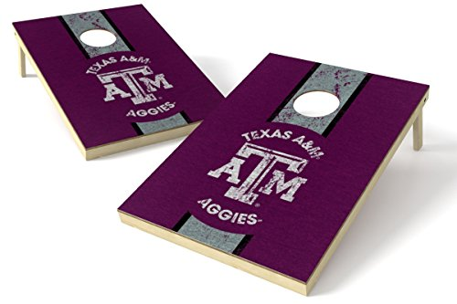 (Wild Sports 2'x3' NCAA College Texas A&M Aggies Cornhole Set - Heritage Design)
