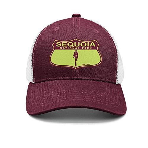 Sequoia National Park Unisex Cotton Flat Brim Cap Adjustable Mesh Golf Hats