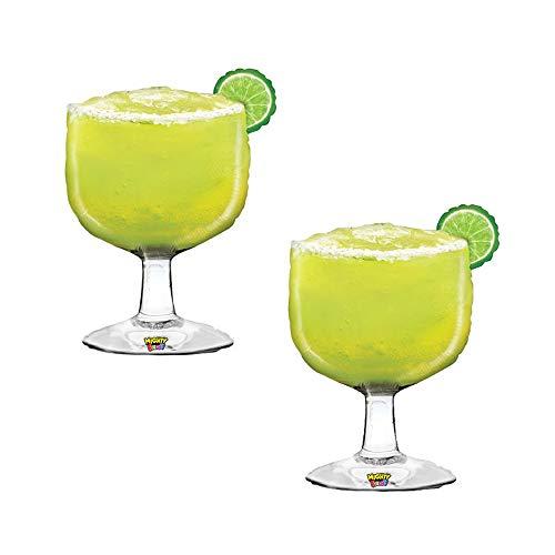 (Set of 2 Realistic Margarita Glass Jumbo 40