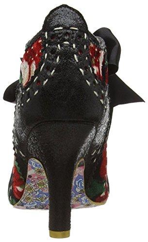 Irregular Choice Abigail's Third Party Nero Multi Fabric Donna Scarpe Stivali