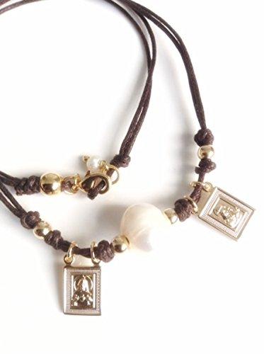 Escapularios catolicos, brown scapular Catholic jewelry, religious medals, choker (Designer Medal)
