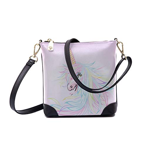 Shoulder Bag Fantasy Unicorn Marble Pastel For Women Bucket Crossbody