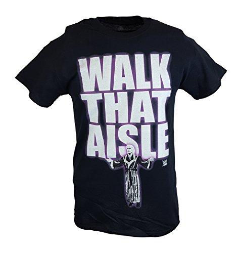 Ric Flair Walk That Aisle Woooo WWE Mens Black T-shirt-5XL by WWE