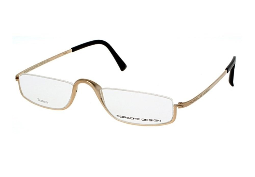 Porsche Design Eyeglasses P8002 A Light Gold Matte Color, Titanium Frame - Men's 50 20 150