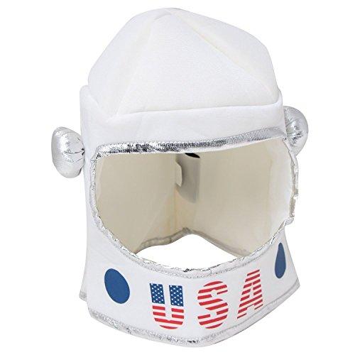 Kids tela suave color blanco juguete astronauta Casco